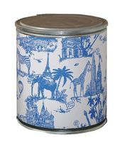cardboard design stool JOUY BLUE Pacific Art Design