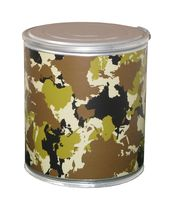 cardboard design stool TT CAMOUFLAGE Pacific Art Design
