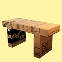 cardboard design stool RE-USO by Samuel C&oacute;rdoba Silla Re-uso