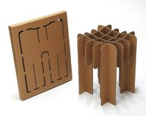 cardboard design stool (with eco-packaging) FYS (Finish Your Self) by David Graas DAVIS GRAAS