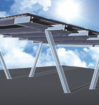 carport (with integrated photovoltaic panels)  Isopan