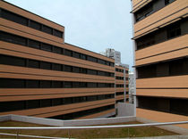 ceramic ventilated facade FACE : SAND Soladrilho