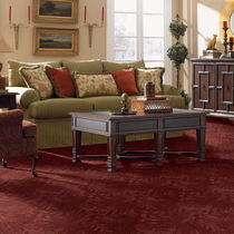synthetic cut and loop pile carpet (Green Label Plus-certified, low VOC emissions) SUNTERRA Gulistan