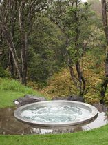 circular built-in hot-tub  Diamond Spas