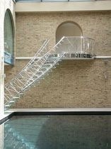 circular floating staircase (glass steps) HIGH WYCOMBE HOUSE SS 599 SPIRAL Stairs