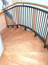 circular floating staircase  QUICK-STEP Instant Staircases