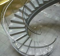 circular staircase with a lateral stringer FITZROVIA SS 709 SPIRAL Stairs