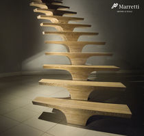 circular staircase with central stringer (wooden frame and steps) CONCORDE Marretti