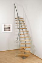 circular staircase with central stringers (metal frame and wooden steps) ATRIUM MINI PLUS Atrium