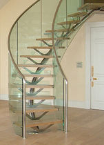 circular staircase with central stringers (metal frame and wooden steps) THE CHALET SS 756 SPIRAL Stairs