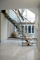 circular staircase with central stringers (metal frame and wooden steps) WOODSIDE SS 712 SPIRAL Stairs