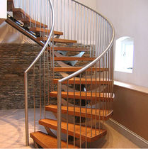 circular staircase with central stringers (metal frame and wooden steps) NOTTINGHAMSHIRE Flight Design