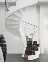 circular staircase with lateral stringers (concrete structure) C-AS EDILCO