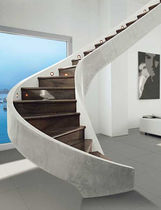 circular staircase with lateral stringers (concrete structure) SERIE C-MS EDILCO