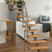 circular staircase with central stringers (metal frame and wooden steps) ATRIUM DIXI Atrium