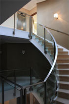 circular staircase with a lateral stringer ORPINGTON Flight Design