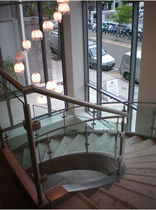 circular staircase with a lateral stringer  Canal Engineering Ltd