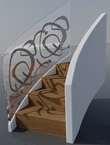 circular staircase with a lateral stringer  SAXUM