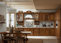 classic kitchen in wood veneer ROSY Corazzin Group - Contract & hotel