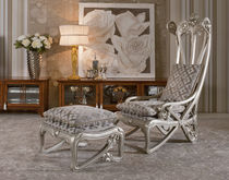 classic style armchair with footstool LIBERTY : 911 MEDEA