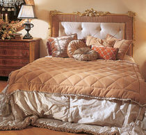 classic style double bed upholstered in fabric 0240 PROVASI