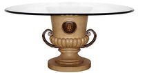 classic style glass round table KRATER GILANI