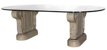 classic style glass table CAST STONE  GILANI