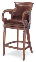 classic style leather bar chair JOCKEY HANCOCK AND MOORE