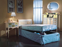 classic style single bed with storage base CALIFORNIA Forni Mobili