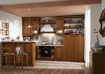 classic wood veneer / marble kitchen ROSY Corazzin Group - Contract & hotel