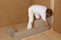 clay block for partitions walls (100% recyclable) PROCREA® Hock GmbH & Co. KG