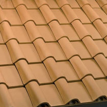 clay flat roof tile TEGOLA ROMANA PIANA ROSSA  FBM Fornaci Briziarelli Marsciano