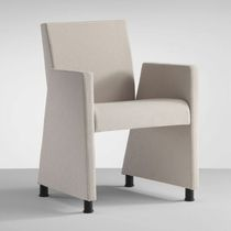 commercial armchair with casters LOUNGE by Lucci & Orlandini MASCAGNI