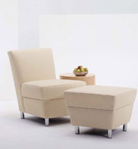 commercial armchair with footstool SERAFINA by David Dahl Arcadia Contract