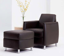 commercial armchair with footstool BELMONDE by David Dahl  Arcadia Contract