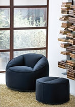 commercial armchair with footstool ISLAND by Claudio Dondoli & Marco Pocci  The Chair Factory