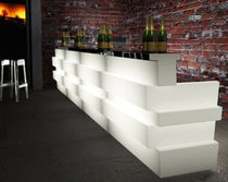 commercial backlit bar counter TETRIS TTS by C.Dondoli & M.Pocci PEDRALI