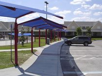 commercial carport SHADE WALK Shade Systems