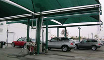 commercial carport (canvas cover) DOUBLE CANTILEVERS Shade Systems