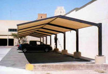 commercial carport (canvas cover) PARTNERSHIP Apollo Sunguard