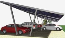 commercial carport (with integrated photovoltaic panels)  Thermo Solar