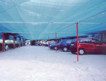 commercial carport (canvas cover)  EMIS FRANCE