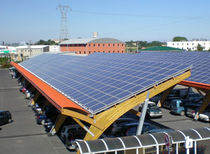 commercial carport (with integrated photovoltaic panels) OMBRIERES Sunvie