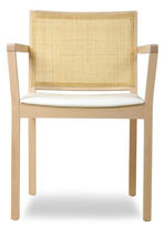 commercial chair with armrests C ARM by Tom Kelley The Chair Factory