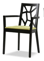 commercial chair with armrests D ARM by Tom Kelley The Chair Factory