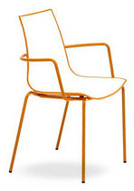 commercial chair with armrests 3D COLOR ARM by Pedrali Lab The Chair Factory