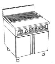 commercial charcoal grill COMPACT 800 CBC B Cometto Industrie