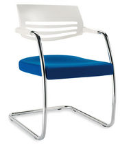 commercial contemporary sled base armchair MACRO 01 NEWLINEOFFICE