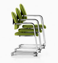 commercial contemporary sled base stacking chair OMNIO® by M.Ballendat ROHDE & GRAHL
