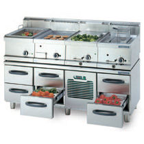 commercial cooling table with electric grill PROFF : GR-160 Hackman